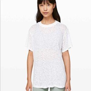 Lululemon All Yours Boyfriend Tee / Veil White / 2